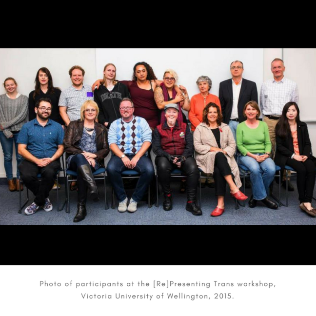 Photo of participants at the [Re]Presenting Trans workshop, Victoria University of Wellington, 2015..png